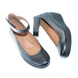 Clarks Artisan Clarene Tide Ankle Strap Wedges